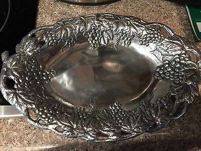 Arthur Court Grapes and Leaves Oval Serving Tray Exquisite 1990