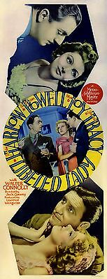 LIBELED LADY (1936) Insert poster ft. Harlow, Powell, Loy, Tracy / MGM comedy