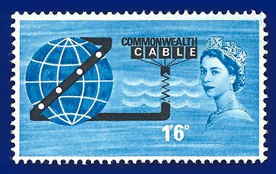 1963 SG645p 1s6d Opening of COMPAC Phosphor Mounted Mint MLH