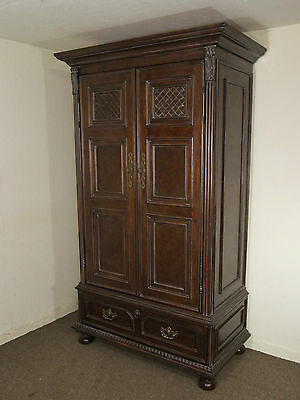 Large French Louis Style Carved Mahogany Armoire Wardrobe 100 Mls Free Delivery