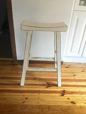 2 Recycled Wood Kitchen Stools
