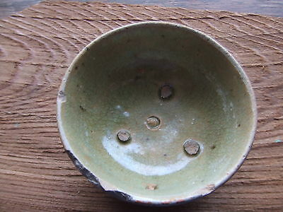 CHINA.  SUNG DYNASTY.  12th/13th CENTURY  GREEN GLAZED POTTERY CUP,  SUPERB