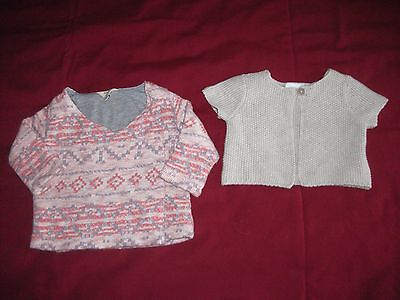 Baby Girls Cardigans Size 3-6 Months-EXCELLENT CONDITION - Next And River Island