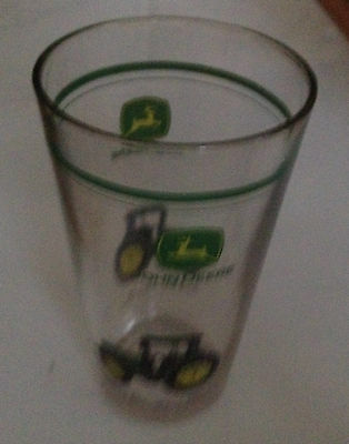 "John Deere glass  ""nothing runs like a Deere"" 5-3/4 T X 3-3/8 dia T X 2-3/8 B"