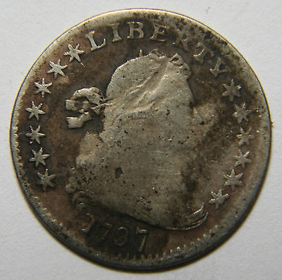 1797 Silver Seated Draped Bust Half Dime 13 Star 5¢ Coin Lot# MZ 3912