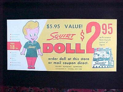 Squirt Soda Doll Premium Store Poster Mint Condition