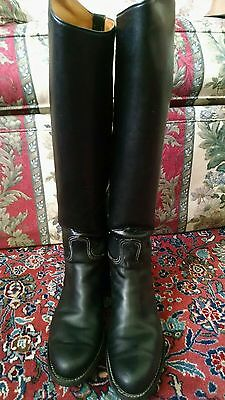 VGUC Tall Dehner Black Calf Leather Riding Boots - US Size 7 B (Womens)