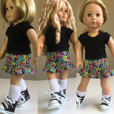 """Fit American Girl, Our Generation Gotz 46cm 18"""" Doll Clothes. Outfit Inc Shoes"""