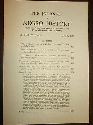 Journal of Negro History: Negro Controversy in 1866 Kentucky
