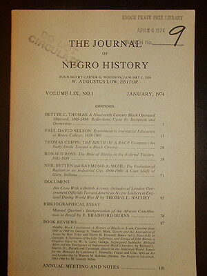 Journal of Negro History: Jim Crow with a British Accent