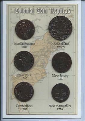 Set of 6 Colonial Coins Replicas - can be used as an Educational Resource!