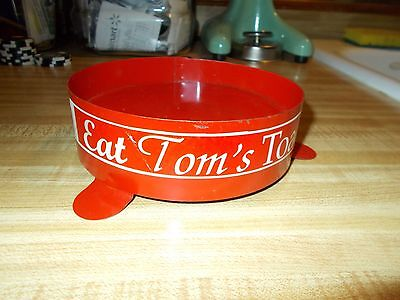 Original Vintage Tom's Peanut  Jar Insert Peanut Hold Up Ring, Tom Sign, Lance