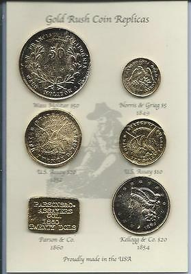 Set of 6 California Gold Rush Replicas - can be used as an Educational Resource!