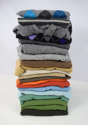 20 Lot 9 lbs 100% Cashmere Sweaters Crafting Cutter Fabric Recycled Multi Color