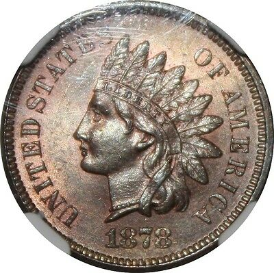 1878 MS63RB Indian Head Cent, NGC and Photoseal, looks nicer
