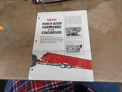 Introduction Farmhand F114 Stackmover  brochure