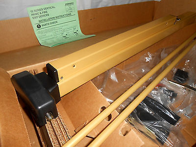 Falcon Monarch F19-V-Ba Fire Exit Device Panic Bar Short Door Vertical Rhr Gold