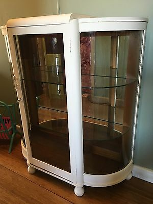 Art Deco Glass Display Crystal Cabinet