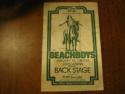 The Beach Boys Vintage Tour Backstage Pass!! Unpeeled!! RARE!!
