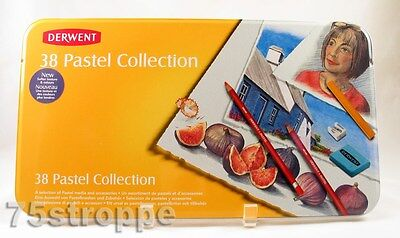 Derwent Pastel Collection Mixed Media Colored Pencil Set 38 Pc 0700302 NEW
