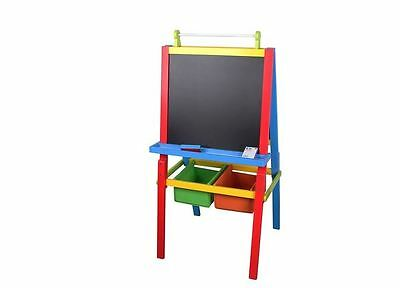 Kids Painting Board Drawing Easel Black White Board Pine Toddlers Art Tubs Paint