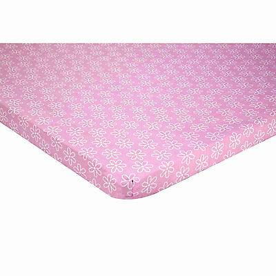 Disney Minnie Mouse Portable Crib  Fitted Sheet - Pink - Girls - Flowers