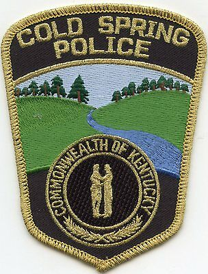 Cold Spring Kentucky Ky Police Patch