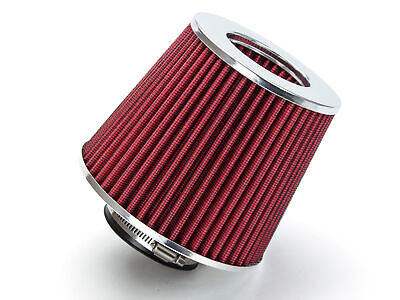 """2.75"""" Short Ram Cold Air Intake Filter Round/Cone Universal RED For Honda 1"""