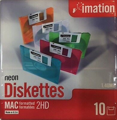"""Imation 2HD 10Pack 3.5"""" Formatted Diskettes FDD Floppy"""