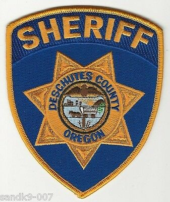 Deschutes County Sheriff State of OREGON OR Shoulder Patch