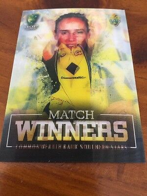 Ellyse Perry Hologram Southern Stars Match Winners Cricket Card MW-02