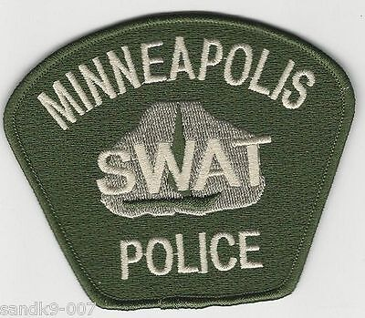 SWAT SRT Minneapolis Police State of MINNESOTA MN Patch subdued