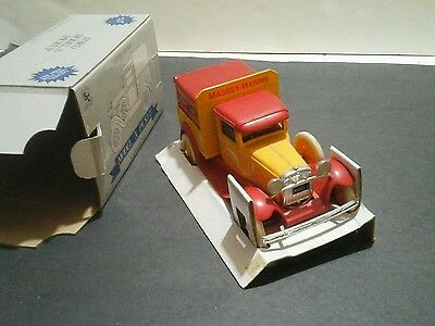 Massey Harris Ford Model A pickup die cast commemorative bank