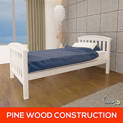 NEW Natural Solid Pine Wooden Timber Bed Frame Childrens Kids Furniture Single
