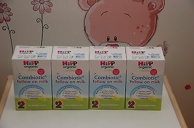 4-BOXES HiPP UK- Organic COMBIOTIC Follow On Milk -Stage 2 - 800g