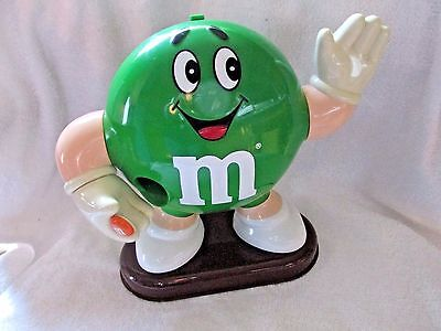 "M&m Green Character Candy Dispenser 9"" Tall Vintage 1992 Mars"