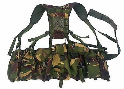 CLEARANCE - British Paratroop Webbing Belt Harness in DPM - HM Supplies Sm/M