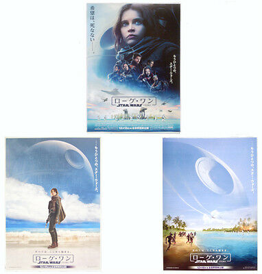 Rogue One-A Star Wars Story 2016 Japanese 3 version 7'x10' mini poster set