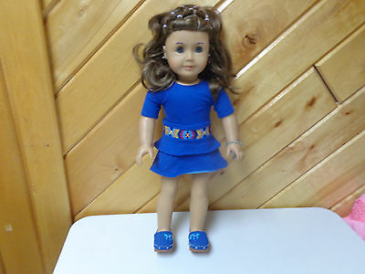 American Girl Doll Authentic  19 Inch Doll W Outfit Pierced Ears Hair Style