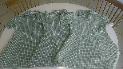 School uniform Dress x 3 green and white checkered