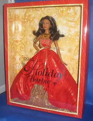 2014 Holiday Barbie Collector  Aa Barbie Doll, Mint, Nrfb