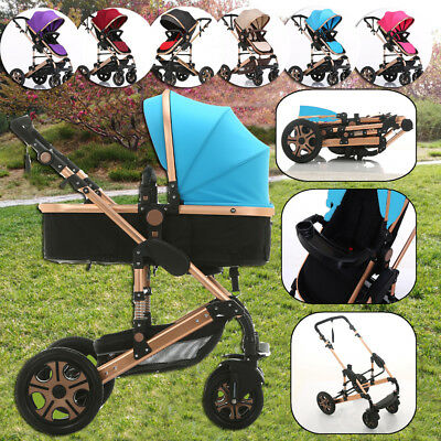 Baby Toddler Pram Stroller Jogger with Bassinet Travel System Buggy Pushchair