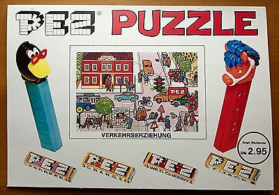 PEZ Retired Puzzle - Vintage 1960s - Non-U.S. - Cardboard - 11 x 8 inches-MINT