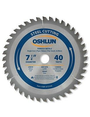 "OSHLUN  SBF-072540  7-1/4"" x 40T Steel Cutting Saw Blade"