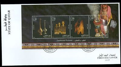 Qatar Traditional Perfume S/S M/S + Change on 2 diff FDC Cover Lot#3339 & 3344