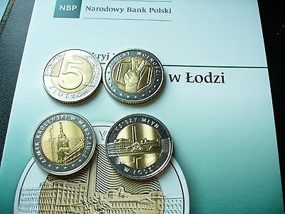 POLAND 5 ZLOTYCH  COINS MIXED YEARS LOT OF 3 total 15 zlotych