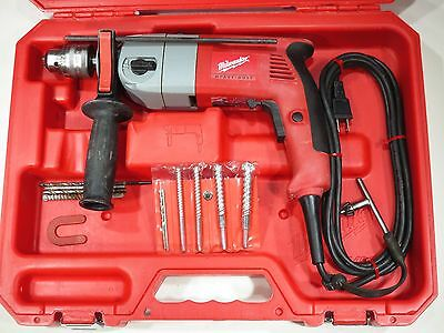 Milwaukee Hammer / Regular Drill -Reversible W/ Case & Bits- Great Cond. -Clean