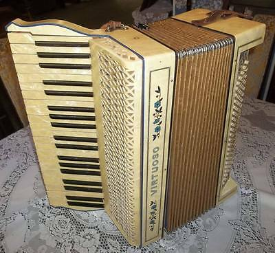 "Hohner Vintage 1931 ""Virtuoso"" Inlay  Accordion Mother of Pearl Keys"