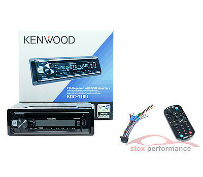 Kenwood KDC-110U 1-Din Front USB & AUX Input CD Car Stereo Receiver Car Headunit