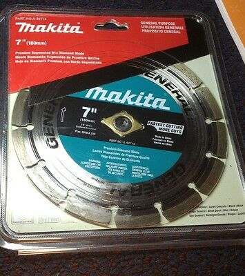 "Makita 7"" Inch Diamond Premium Wet Dry Blade Cut Off Concrete Block Brick"